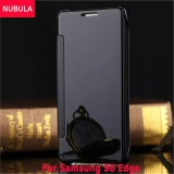 Latest Nubula New Fashion 360 Degree Luxury Mirror Clamshell Hard Shell Flip Wallet Case For Samsung Galaxy S6 Edge Soft Leather Flip Wallet Smart View Mirror Clear View Full Cover Case Intl