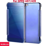 Nubula New Fashion 360 Degree Luxury Mirror Clamshell Hard Shell Flip Wallet Case For Oppo A57 Oppo A39 Soft Leather Flip Wallet Smart View Mirror Clear View Full Cover Case Intl Oem Discount