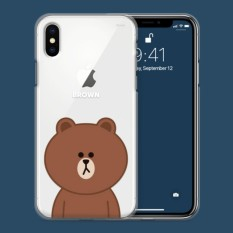 Sale Officially Licensed Product Iphone X Line Friends Clear Tpu Jelly Case Basic Brown Intl Online Singapore