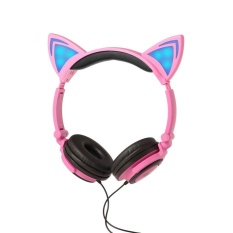 Oh Cartoon Cat Ear Shape Headphone With Glowing Lights Wired Headband For Children Intl Shop