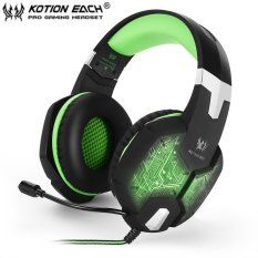 Oh Each G1000 Pc Gaming Bass Stereo Headset Microphone Led Light Laptop Computer Intl On China