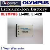 Olympus Li 40B Li 42B Lithium Ion Battery For Olympus Camera By Divipower For Sale