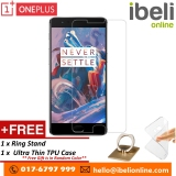 Great Deal Oneplus 3 Hd Tempered Glass Screen Protector Free Ultra Thin Tpu Transparent Back Cover Case Free Ring Phone Stand