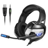 Onikuma K5 Best Gaming Headset Gamer Deep Bass Gaming Headphones For Computer Pc Ps4 Laptop Notebook With Microphone Led Light Intl Shopping