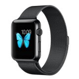 Latest Ooplm Apple Watch Band Magnetic Clasp Mesh Loop Milanese Stainless Steel Replacement Strap For Apple Watch Sport Edition 42Mm Black Intl
