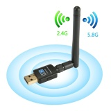 Who Sells Ooplm Wireless Usb Wifi Adapter 600Mbps Dual Band Usb Wireless Adapter 5 8G 2 4G With Antennas For Desktop Laptop Support Windows Xp Vista 7 8 10 Mac Os X 10 4 10 12 Complies With 802 11 B G N Ac Intl