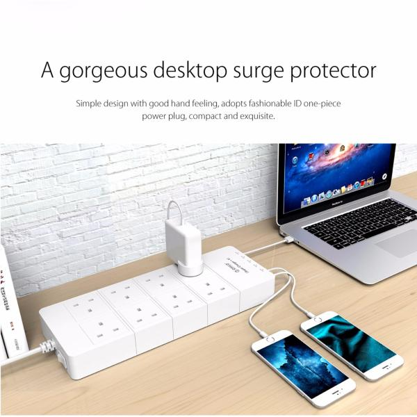 ORICO 8 AC Outlets 5 USB Ports Surge Protector - 1.4m (HPC-8A5U-V1-UK-WH)