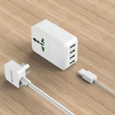 ORICO S4U 20W Universal Power Plug Travel Converting Adapter with 4 USB Charging Ports EU - intl