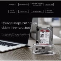 Buy Orico Transparent 2 5 3 5 Inch Usb3 1 Gen1 Hard Drive Dock 6139C3 Online