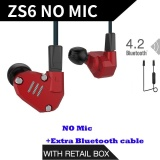 Who Sells Original Kz Zs6 Earbuds 2Dd 2Ba Hybrid Earphone Hifi In Ear Metal Headphone Dj Monitor Headset Earphones Without Mcrophone Blueteeth Cable For Phone Pk Zs5 Zst Intl The Cheapest