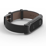 Deals For Original Mijobs Strap For Xiaomi Mi Band 2 Metal Leather Belt Bracelet For Miband 2 Wristbands Replace Accessories For Mi Band 2 Black Intl