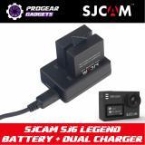 Original Sjcam Sj6 Legend Battery Dual Channel Charger Kit 2 X 1000Mah Battery Dual Charger Dock Coupon Code