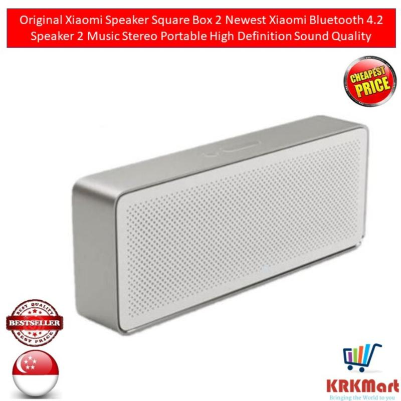 Original Xiaomi Speaker Square Box 2 Newest Xiaomi Bluetooth 4.2 Speaker 2 Music Stereo Portable High Definition Sound Quality Singapore