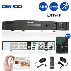 Sale Owsoo 8Ch Channel Full 1080N 960 1080 Ahd Dvr Hvr Nvr H 264 Hdmi P2P Cloud Network Onvif Digital Video Recorder 1Tb Hard Drive Oem Branded