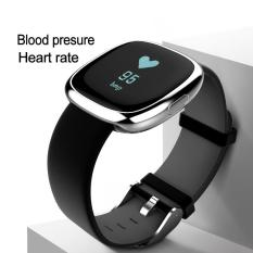 P2 Bluetooth 4 Wristband Smart Watch Heart Rate Blood Pressure Monitor Waterproof Ip67 Sports Fitness Tracker Smart Bracelet For Android And Ios Silver And Black Intl Discount Code