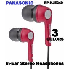 Panasonic RP-HJE240 In-Ear Stereo Headphones (Blue)