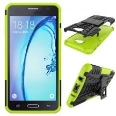Brand New Pc Tpu Hybrid Armor Kickstand Case For Samsung Galaxy J7 Prime(Green) Intl