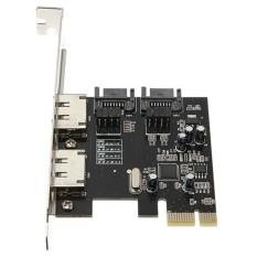 PCI-E To 4 Ports SATA 3.0 ESATA PCIE SATA3 6Gbps Expansion Card PCI-E Adapter - intl