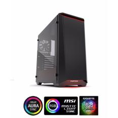 Deals For Phanteks Eclipse P400S Tempered Glass Black Red