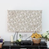 Low Price Pingguo Cotton Linen Lcd Hanging Tv Cover