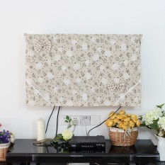 Price Pingguo Cotton Linen Lcd Hanging Tv Cover On Singapore