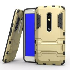 Retail Plastic And Tpu Case For Moto X Play Gold