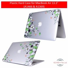 "Plastic Hard Case for MacBook Air 13.3"" (A1466 & A1369) - White Flowers"