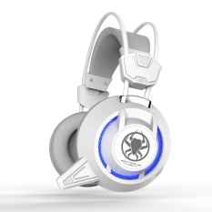 Plextone Gaming Headset Pc835 Over Ear Headphone With Mic And Volume Control For Pc Notebook White Intl Price