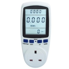 Plug Power Meter Energy Voltage Amps Electricity Usage Monitor Reduce Your Energy Costs Intl Shop