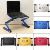 Cheapest Portable 360°Adjustable Foldable Laptop Notebook Desk Table Stand Bed Tray 2 Fan Blue