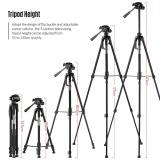 Best Offer Portable Aluminum Alloy Tripod With 3 Way Damping Tripod Head