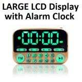 Sale Portable Fm Radio With Large Lcd Display Speaker Player Clock Usb Torch Gold Oem Branded