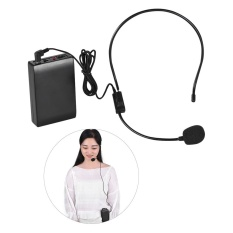 Portable Fm Wireless Microphone Headset System Voice Amplifier 1/4in Output Plug With Bodypack Transmitter Receiver For Teacher Speaker By Tomtop.