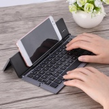 Compare Prices For Portable Foldable Aluminum Alloy Wireless Bluetooth Keyboard For Windows Android Ios Dark Grey Intl