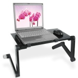 Compare Price Portable Foldable Folding Laptop Notebook Desk Table Stand Bed Tray Adjustable Intl On China