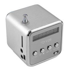 Sale Portable Micro Usb Mini Stereo Super Bass Speaker Music Mp3 Mp4 Fm Radio Silver Intl Oem Branded