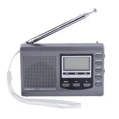 Sale Portable Mini Radios Fm Mw Sw Receiver With Digital Alarm Clock Fm Radio Receiver Grey Intl Online On China