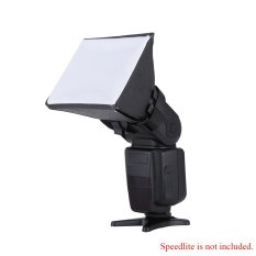 Portable Photography Flash Diffuser Mini Softbox Kit For Canon Eos Nikon Olympus Pentax Sony Sigma Dslr Speedlite Flash (export) By Tomtop.