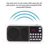 How To Buy Portable Speaker Digital Audio Music Player Led Flashlight Support Fm Radio Tf Card Usb Aux Intl