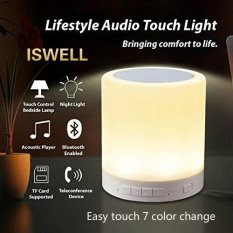 New Portable Waterproof Night Light With Bluetooth Speaker Portable Wireless Bluetooth Speaker Touch Control Color Led Bedside Table Lamp Speakerphone Tf Card Aux In Supported Iswell Intl