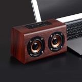 Price Comparisons For Portable Wireless Bluetooth Speaker High Quality Classic Wood Stereo Speakers Intl