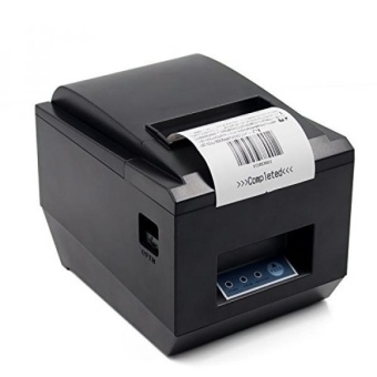 POS Thermal USB Square Receipt Printer Ethernet / LANSerial Port - Auto Cutter - Cash Drawer Port - Paper Width 3 1/8\ (80mm) - Works on Windows XP/Vista/7/8/8.1/10 Uses