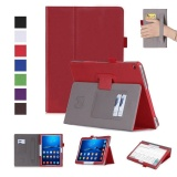 Buy Premium Pu Leather Case Stand Cover For Huawei Mediapad M3 Lite 10 10 1 Inch Bah Al00 And Bah W09 Wifi 4G Lte Fhd Tablet With Velcro Hand Strap And Card Slots Red Intl Cheap China