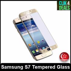 Premium S7 Full Screen 100 Hd Tempered Glass Gold For Sale