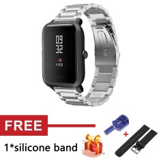 Premium Stainless Steel Band Replacement Strap For Huami Amazfit Bip Bit Pace Lite Youth Smart Watch Intl Coupon