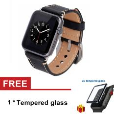 Review Premium Vintage Genuine Leather Watchband Strap With Metal Clasp Buckle For Apple Watch Series 1 Series 2 Series 3 42Mm Oem