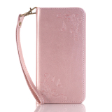 Buy Print Butterfly Fly Flower Pu Leather Flip Wallet Cell Phone Case And Soft Tpu Cover For Samsung Galaxy J3 Pro Pink Oem Cheap