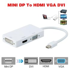 Professional 3 in 1 Converter Thunderbolt Mini Display Port DP To HDMI DVI VGA Adapter Cable For Apple MacBook Pro Air - intl
