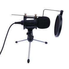 Professional Portable Desktop Condenser Microphone Stand Holder Tripod Set - Intl(black) By Sportschannel.