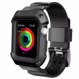 The Cheapest Protective Case With Strap Bands For Apple Watch Series 2 Series 1 Sport Edition 38Mm Black Intl Online